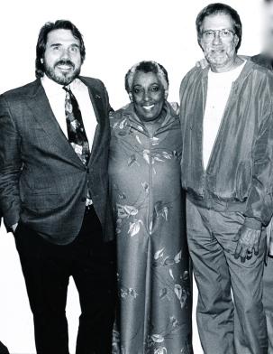 l-r: David Steffen, Carmen McRae, Steve Backer